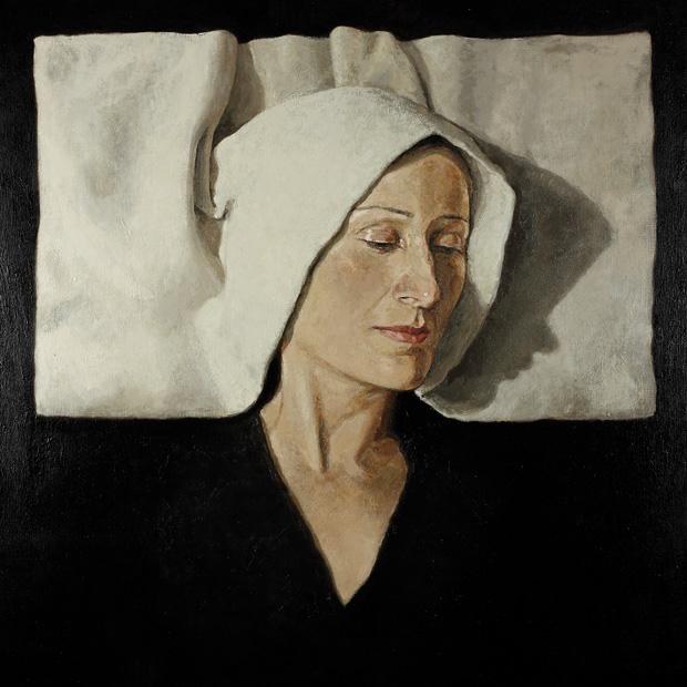 Teresa en Monólogo interior, 2008. Óleo sobre lienzo, 100 x 100 cm